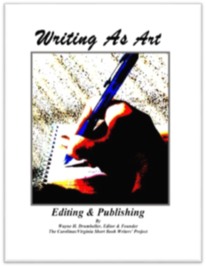 Writing as Art, Editing and Publishing @ Connestee Conference Room